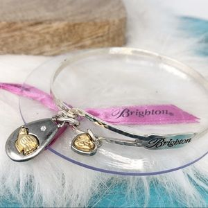 Brighton Peace on Earth Gold Bird Crystal Bracelet